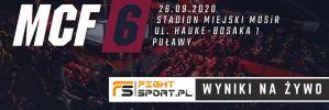 MCF 6 ''Ertons Fight Night'' w Puławach! Wyniki na żywo!