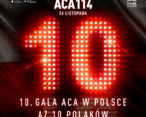 Dziesięciu Polaków w karcie walk gali ACA 114 w Polsce
