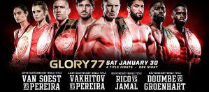 Cztery walki o pasy mistrzowskie na Glory 77 Rico vs Jamal! Fightcard!