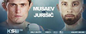 KSW 58: Shamil Musaev przywita w klatce niepokonanego byłego mistrza Titan FC, Uroša Jurišiča