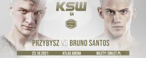 Bruno Santos rywalem Sebastiana Przybysza w walce mistrzowskiej na KSW 64!