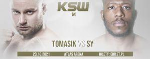Adam Tomasik kontra Oumar Sy w walce otwierającej galę KSW 64!